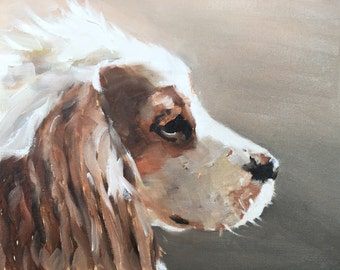 King Charles Spaniel Painting Art PRINT Spaniel Dog - Art Print - from original painting by J Coates