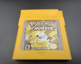 Nintendo GBA Gameboy Advance Pokemon Go YELLOW THUNDER version  edition charizard Venusaur Blastoise card Save works! Free Shipping Color