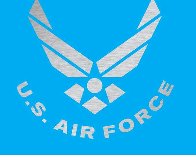 US Air Force Chrome Silver Vinyl Decal 4""