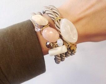 Gorgeous neutral bracelet