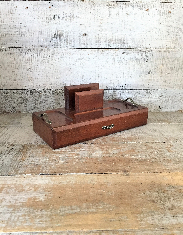 organiseur de bureau vintage de bureau bois organisateur. Black Bedroom Furniture Sets. Home Design Ideas