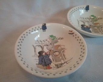 1970s Coalport Paddington Bear Dishes