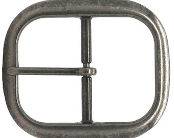 "Antique Nickel Center Bar Belt Buckle 1-1/2"" 1566-1500"