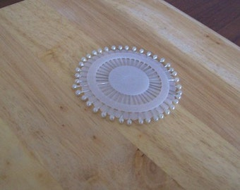 straight pins White Round Head Pearl pins pack 30 pins sewing pins