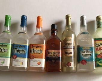 Lot of 7 Jose Cuervo Mini Bottles Craft Destash