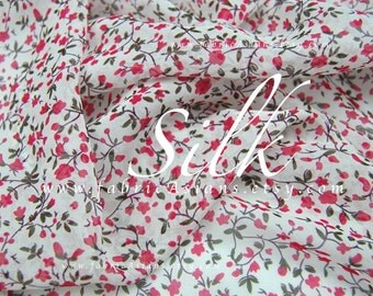 Pink Silk Chiffon Ivory Georgette Buds Fabric Express delivery