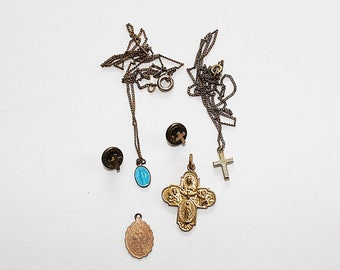 Catholic Cross Charm and Necklace Collection, J149