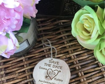 Save The Date Rustic Wooden Wedding Invite