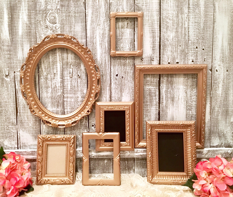 rose gold picture frame set free shipping custom metallic. Black Bedroom Furniture Sets. Home Design Ideas