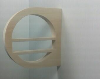 Small Wood Shelf Brackets - Geometric Wood Shelf Brackets - Circular Shelf Bracket