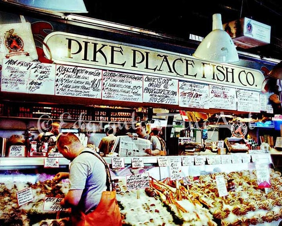 Pike place market photo seattle photography travel for Fish market seattle