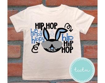 Hip Hop Hippity Hop Boys Bunny Shirt | Boys Easter Hip Hop Top
