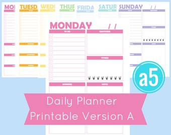 a5 Printable Planner Pages, a5 Planner Inserts, a5 Planner Printable, a5 Inserts, a5 daily planner, a5 planner pages, a5 weekly inserts, a5