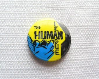 Vintage Early 80s The Human League - Pin / Button / Badge