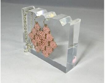 Fixture Displays® FixtureDisplays® Clear Acrylic Plexiglass Necklace Jewelry Stand Countertop Display 11620-6B