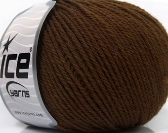 4 balls Merino Yarn, Brown Merino Wool Yarn, Natural Merino Wool, Superwash Merino Hand Knitting Yarn, Extra Fine, Luxury, Worsted Merino