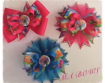 Trolls inspired Hairbow...Poppy Troll Hairbow