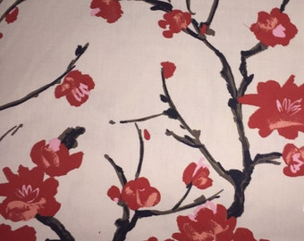 Cherry Blossom  - Asian - Chinoiserie - Upholstery Fabric by the Yard