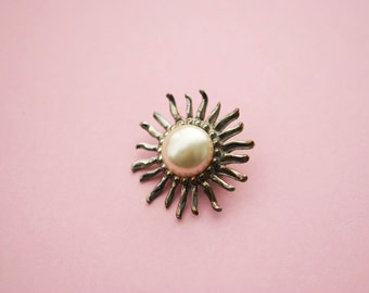 1950s Vintage Starburst Brooch Pin Costume Jewellry Retro Jewelry