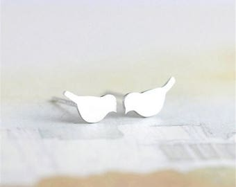 Delicate Flying Bird Earrings