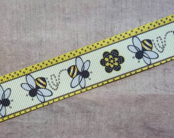 "7/8"" Ribbon by the Yard - Busy Bee"