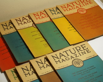 """Nature Magazine Collection - 1935 - 10 Issues - """"Intended To Stimulate The Public Interest In The Outdoors"""""""