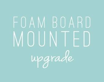 Foam Board Mounting for Prints