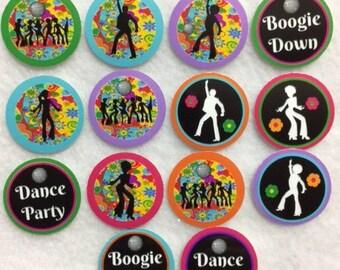 Set of 50/100/150/200  Disco Party  1 Inch Confetti Circles
