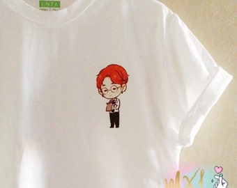 Pocket BTS Jimin T-Shirt (Design by Yeooongi)