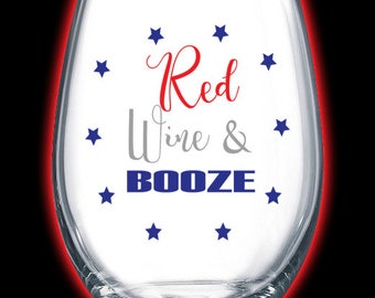 red wine and booze