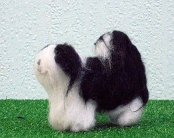 TIBETAN TERRIER Dog.Any breed colour/ coat, Custom markings. No extra charge. Needle felted from photographs.Unique Gift /Memorial