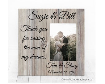 Thank You For Raising The Man Of My Dreams, Grooms Parent Gift, Wedding Thank you for Parents, Mother and Father of the Groom, Wedding Frame