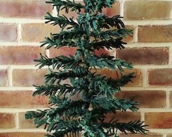 "Wool Feather Tree Kit Green - White Oak Ridge Designs 21"" tall"