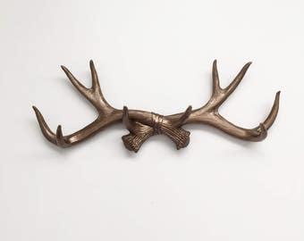 BRONZE or CHOOSE Faux Deer Antler Decor // Hook // Jewelry Holder // Wall Antlers // Cabin Decor // Wedding // Faux Taxidermy // Mug Holder