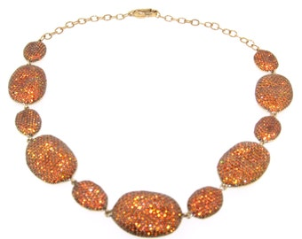 Amber Crystal Necklace Pebbles by JCM London