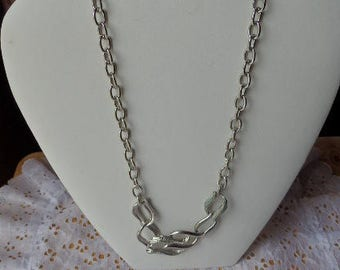 Vintage Napier Silver Choker type Necklace Retro Costume Jewelry Napier Silver Necklace
