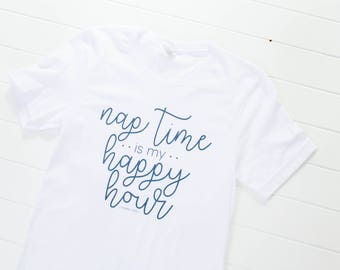 nap time is my happy hour women's graphic t-shirt