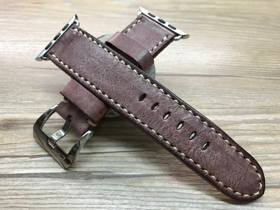 Apple Watch 42mm, Apple Watch Band, Apple watch 38mm, Leather Watch Band, Apple Watch Strap, Distress brown, iWatch band, Free Shipping
