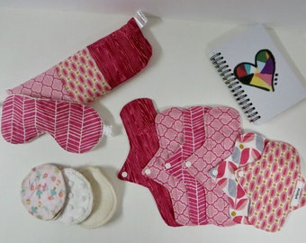 Pre-Teen Cloth Pad Set, Cloth Pad Starter Set, First Period Kit, Teen Cloth Pads, Slim Pads, Petite Pads