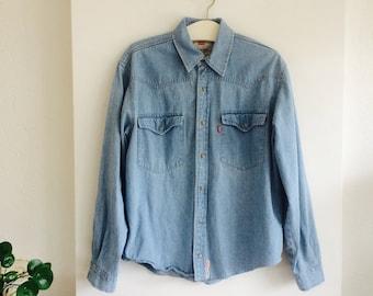 Levi's blouse | vintage levi's | levi's | denim blouse | unisex denim blouse | size M | denimwear | jeanswear| vintage fashion
