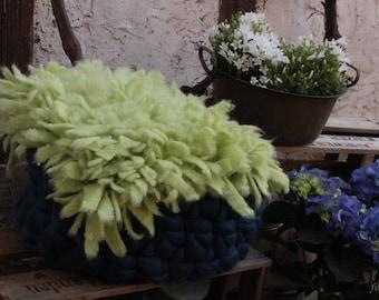 """zarte Wolle- Decke """"Fransen"""" Newborn Photoprop"""