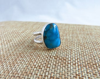Ithaca Peak Turquoise Sterling Ring   (Size 6.5)