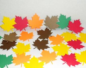 30 Die Cut Leaves, Paper Leaves, Scrapbook Supplies, Die Cut Leafs, Fall Leaves, Autumn Leaves, Paper Cut Leaves,Paper Leaves