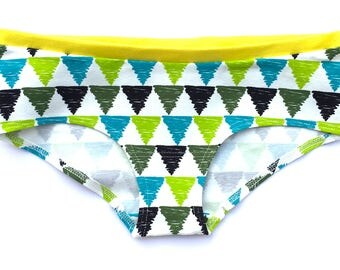Organic cotton ladies panties - Surfing Triangles women boxers