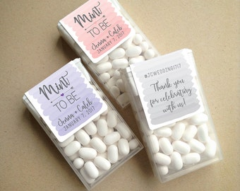 Wraparound Watercolor Ombre Mint to Be Tic Tac Favor LABELS • Tic Tac Labels • Mint To Be • Favor Labels • Mints • Favors