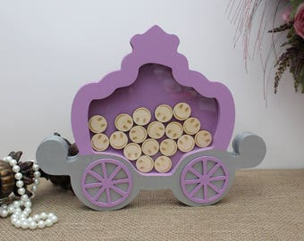 Princess Carriage Reward Chart Drop Box, Birthday Gift, Children Reward Chart, Kids Reward Drop Box, Good Behaviour Reward Jar, Smiley Face