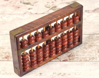 Vintage wooden abacus, bead counter