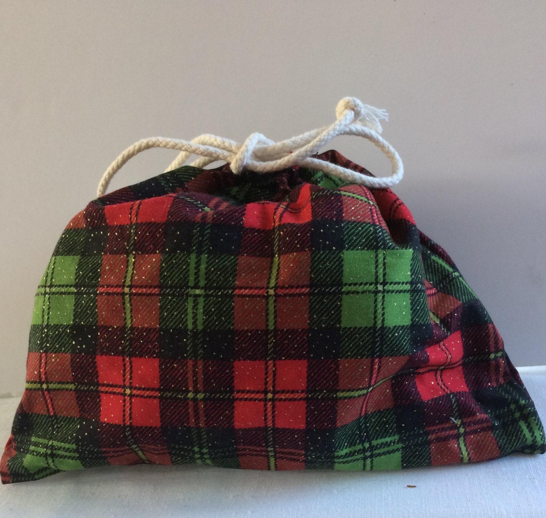 Santa sack - christmas gift bag - fabric gift bag - reusable gift ...