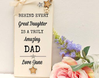 Father of the Bride Plaque Dad Daughter Gift Fathers Day Sign Personalised