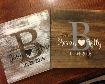 "12x12 Hand-Painted ""Piglet"" Rustic Wedding Display Board"